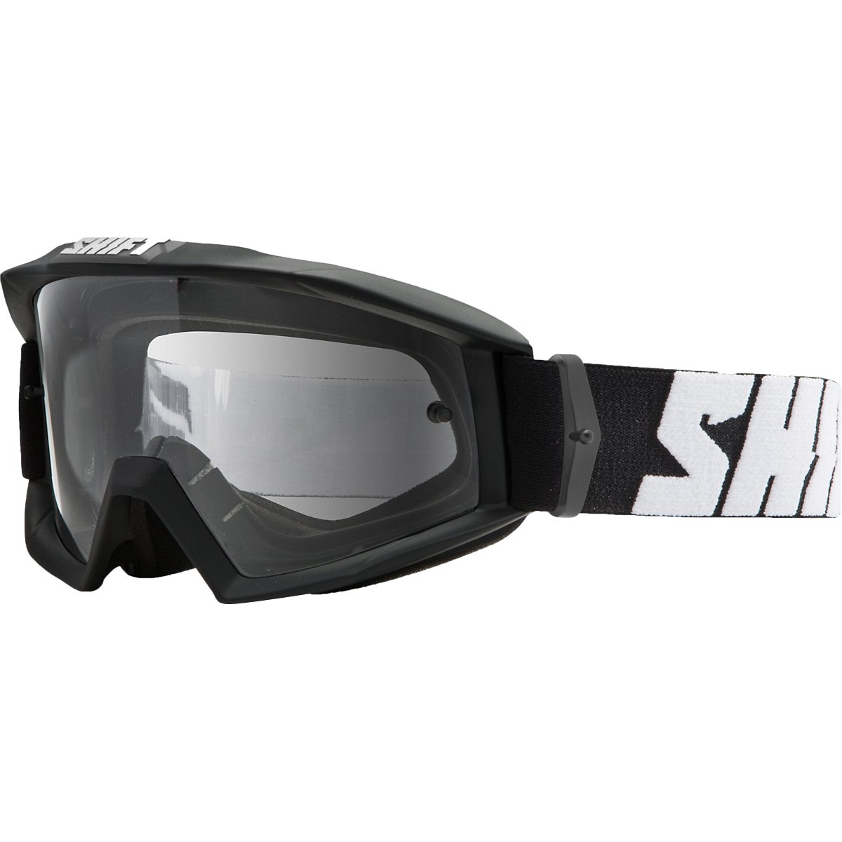 Shift Racing Nano Adult MX Motorcycle Goggles Eyewear - Matte Black/Clear/No Size