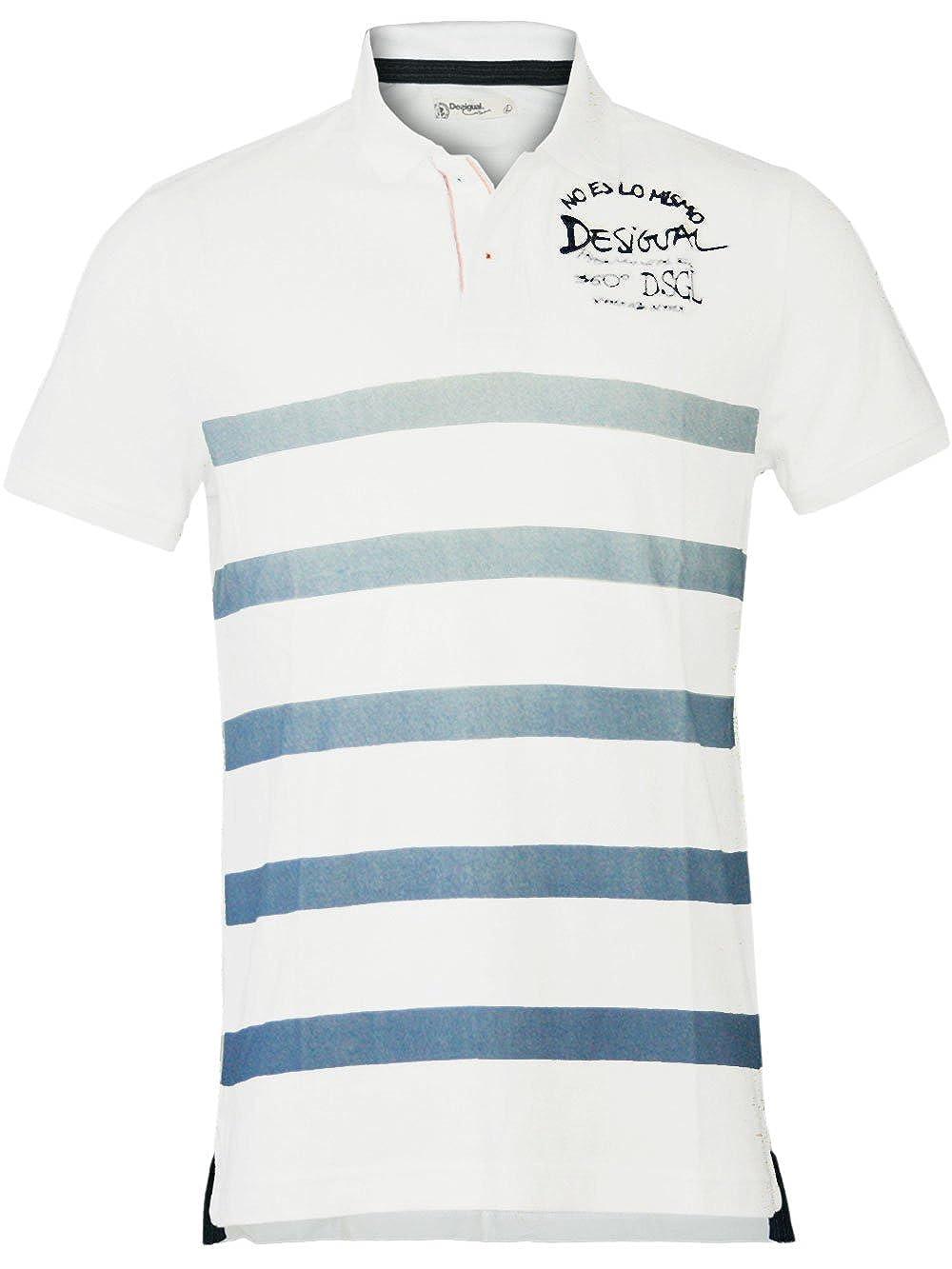 DESIGUAL Hombre Diseñador Top Polo Shirt Camisetas - MAYFLOWER ...