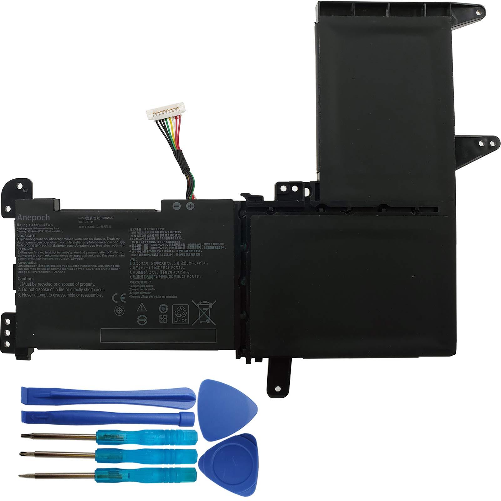 Bateria B31N1637 para Asus VivoBook S5100U X510 X510U X510UF