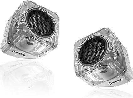 TWS par de parlantes inalámbricos, juego de 2 mini parlantes para sistema estéreo inalámbrico de doble canal, luz LED parpadeante a color, compatible con computadora Smartphone Mp3 AUX, 2 Pack: Amazon.es: Electrónica