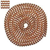 10 Foot Length Ball Chain, #10 Size, Copper, & 10 Matching 'B' Couplings