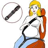 Hikig Ceinture de sécurité de grossesse, ajusteur de ceinture de maternité, confort et sécurité pour les femmes enceintes, protège le ventre et le bébé, noir
