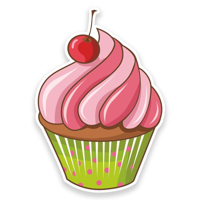 2 x 30cm Cupcake Vinyl Decal Sticker Car Shop Cup Cake Bakery Pink Food #9259