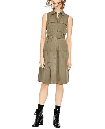 fa6e4d53df4 Amazon.com  Maison Jules Womens Utility-Pocket A-Line T-Shirt Dress ...