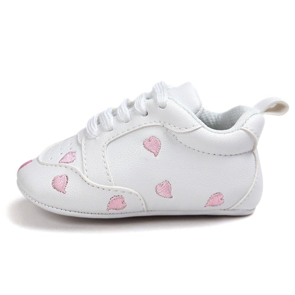 DZT1968  Newborn Baby Embroidery Love Shape Bandage Sole Sneaker Soft Anti-Slip Sole Newborn Infant First Walkers Shoes