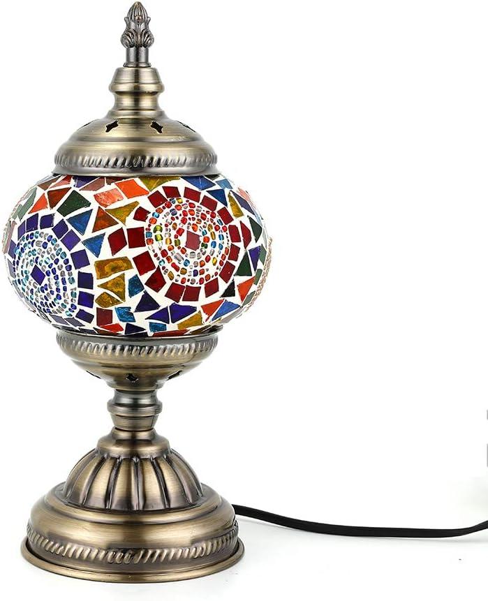 Lámpara Turca Mesa Mosaico de cristal hecho a Mano, Bombilla LED ...