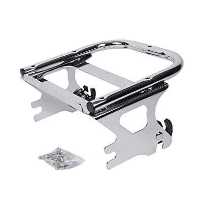 Detachable Two-Up Tour Pack Mounting Luggage Rack For 1997-2005 2006 2007 2008 Harley Davidson Touring: Automotive