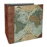 world photo album - Paper House Productions FB-0001E Flipbook Interactive Blank Album, Old World