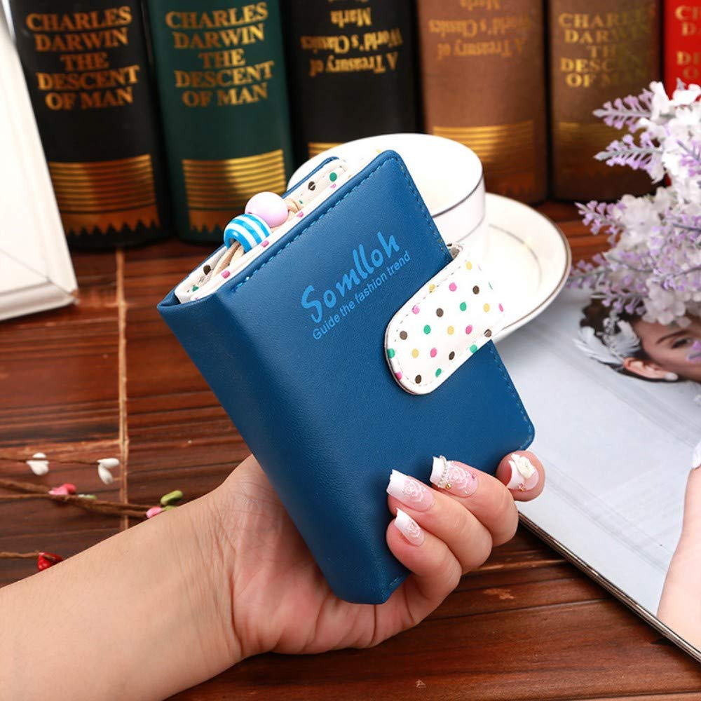 GENGXINLIN財布レディース財布と財布かわいいウェーブポイント財布ショートジッパー財布女性のジッパー財布、B   B07NMNP21B