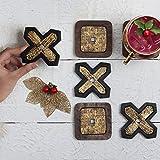 storeindya Set of 6 Handmade Wooden Drink Coasters