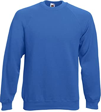 e44b710255f3 Fruit of the Loom Herren Sweatshirt Classic Raglan Sweat 62-216-0  Amazon.de   Bekleidung