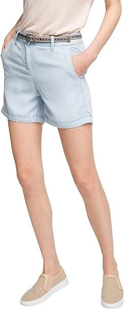 ESPRIT Damen 056EE1C022 in Jeans Optik Short, Blau (Blue