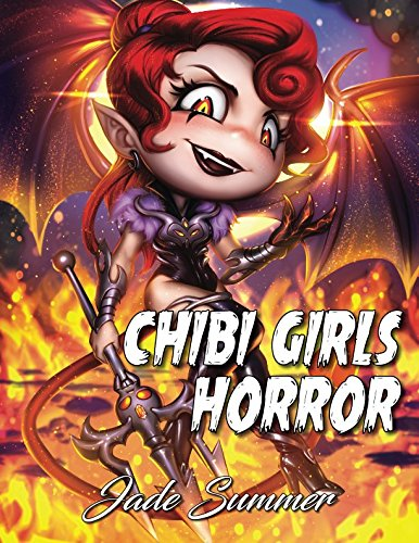 Chibi Girls Horror: An Adult Coloring Book with Adorable Anime Characters and Cute Horror Scenes for Relaxation -