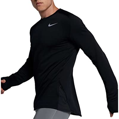 orden cortar Lujo  Nike Men's Therma Sphere Element Long Sleeve Crew Running Shirt ...