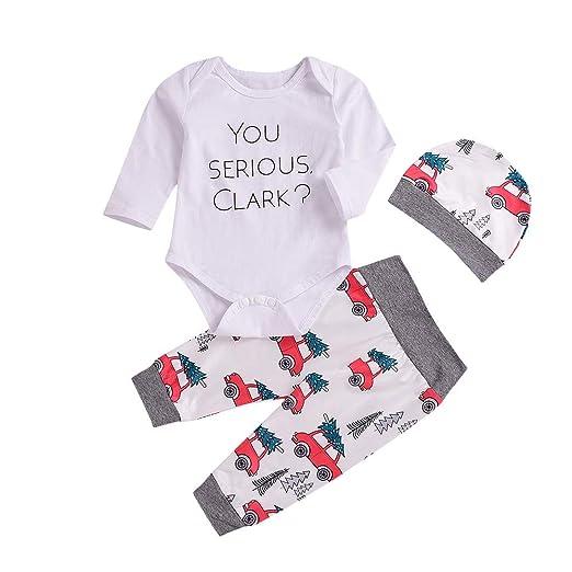 398caf027cf4 Amazon.com  Sagton Newborn Infant Baby Boy Girl Letter Long Sleeve ...