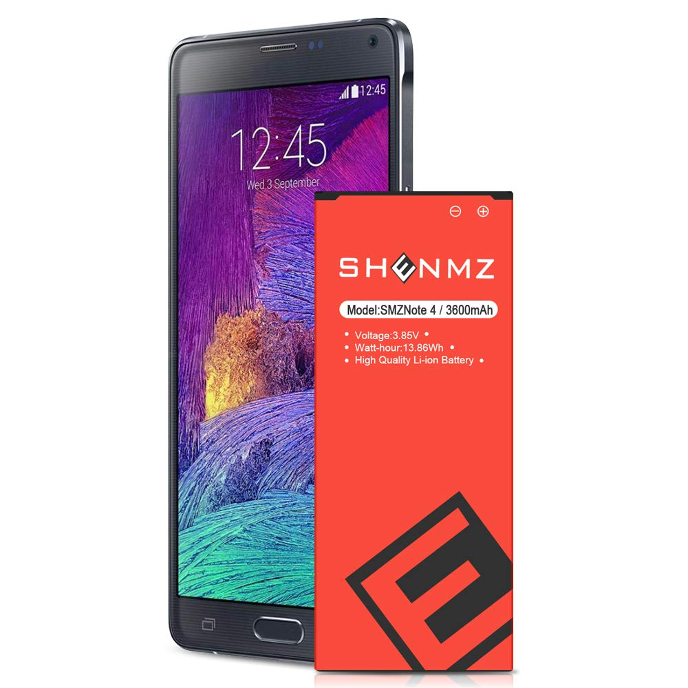 Galaxy Note 4 Battery SHENMZ 3600mAh Li-ion Replacement Battery for Samsung Galaxy Note 4 N910 N910A (AT&T) N910T(T-Mobile) N910(Verizon) N910P(Sprint) N910F N910U LTE - 24 Months Warranty by SHENMZ