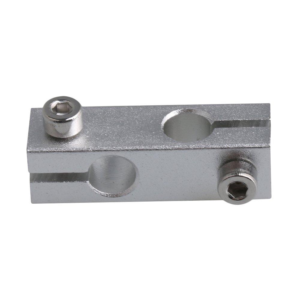 CNBTR Soporte de guí a de sujeció n de aleació n de aluminio para doble cruz de 5 mm de diá metro yqltd M6180619022