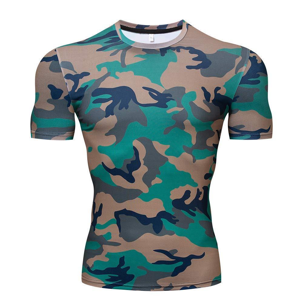 Quick Cool Dry Fit T-Shirt 3D Print Marvel Superhero Mens Compression Short Sleeve Sport Baselayer Pro Athlete Camouflage