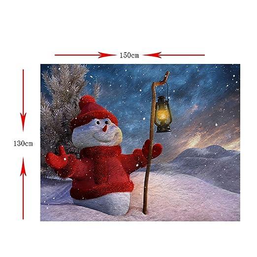Homyl 2 unds Frazada de Cama Sofà Sillas Suave Cómodo Accesorios de Casa Hogar Navidad - Muñeco de Nieve, 130x150cm: Amazon.es: Hogar