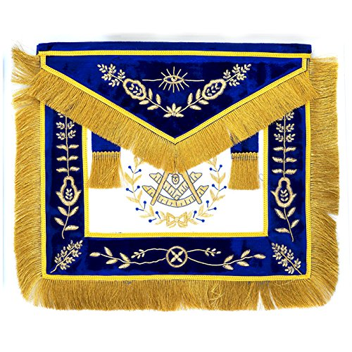 Masonic Blue Lodge Past master Grand Lodge Apron for the Freemason by The Masonic Exchange