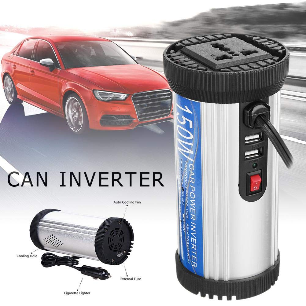 Dubleir Portable 150W Car Power Inverter DC 12V to AC 240V Peak 300W Car Converter