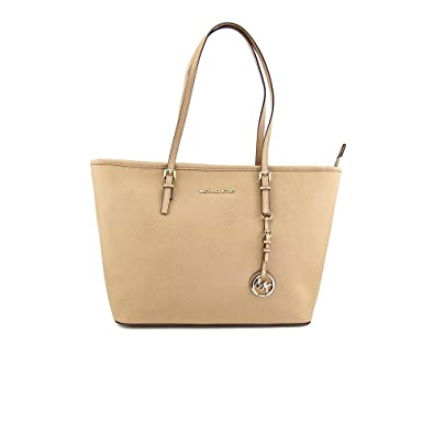 689c5c3e17d928 Michael Kors Jet Set Travel Dk Khaki Leather: Handbags: Amazon.com
