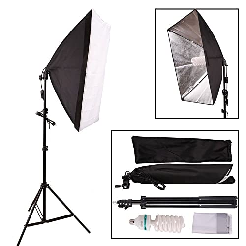 Soft Studio Lighting Kit: 2 X Continuous Lighting Kit 50x70cm Softbox Soft Box