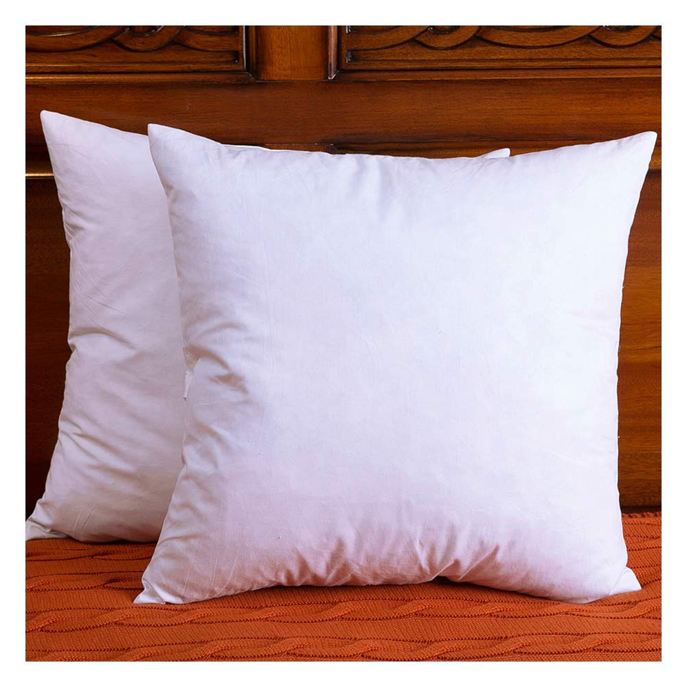 Set of 2 cotton fabric throw pillows insert down and - Fabric for throw pillows ...