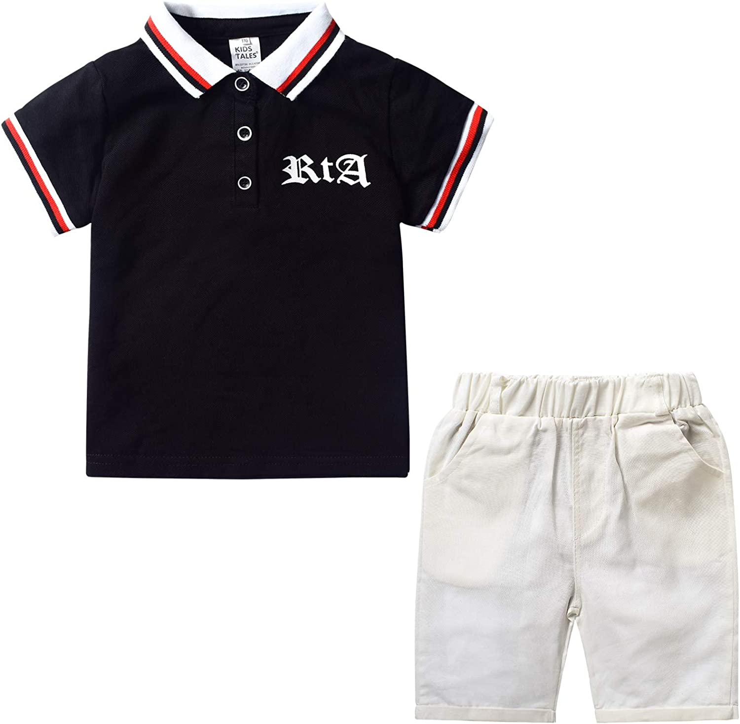 Nwada Boys Clothes Kids Shorts and Polo Shirt Sets Toddler Tshirt and Pants Suit Summer Sport Clothing Children Outfits
