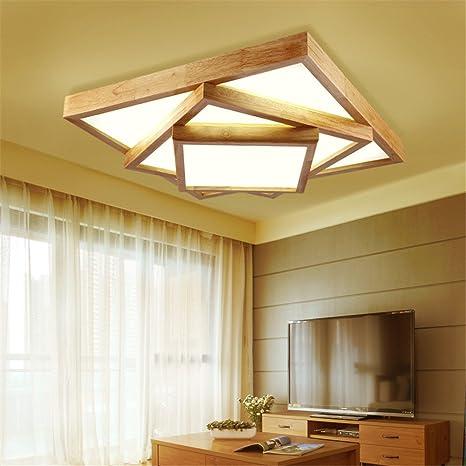 Leihongthebox Luz luz de madera madera japonesa lámparas LED ...