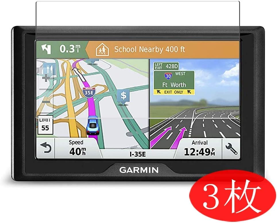 VacFun 3 Piezas HD Claro Protector de Pantalla para Garmin Drive 61 USA LM GPS Navigator System, Screen Protector Sin Burbujas Película Protectora (Not Cristal Templado)