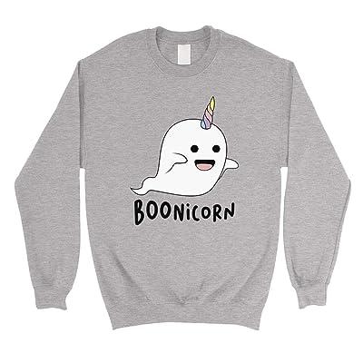 365 Printing Boonicorn - Sudadera Unisex con diseño de Unicornio Fantasma de Halloween: Ropa y accesorios