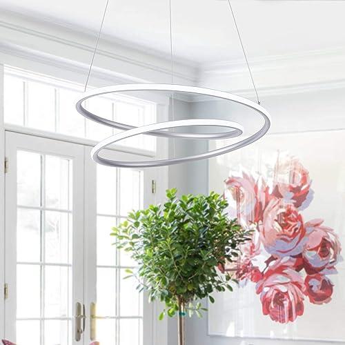 ROYAL PEARL Modern LED Pendant Light Chic Circular Chandelier Creative Hanging Lighting Fixture