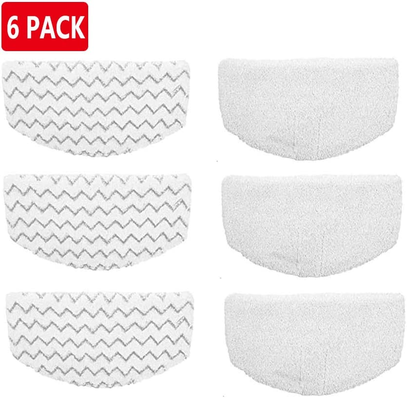 Lxiyu 6 Pack Replacement Steam Mop Pads for Bissell Powerfresh Hard Floor Steam Cleaner 1940 1440 1806 Series Steam Mop Compare to Part # 5938 & 203-2633