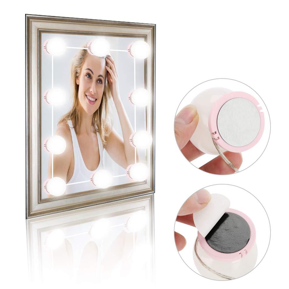 dotato di 20 nastri biadesivi Lampadine a LED LED Light Kit /& Lens Headlight /& Kit lampadine a LED per luci specchio e luci specchio per il trucco Luci dimmerabili