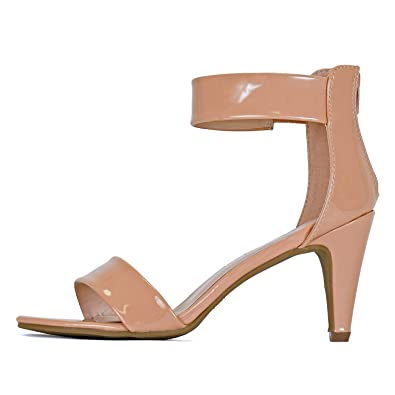 buy best top-rated real really cheap Guilty Shoes Women's Ankle Strap Open Toe Comfortable High Heels Dress  Wedding Party Heeled Sandals