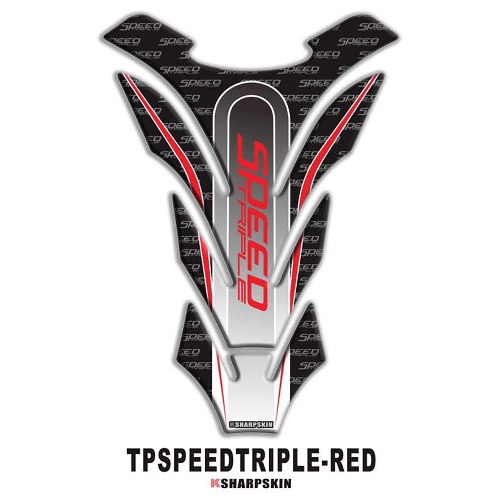 Azul psler Etiqueta engomada protectora de la etiqueta engomada del tanque de combustible de la motocicleta 3D para TIGER 800
