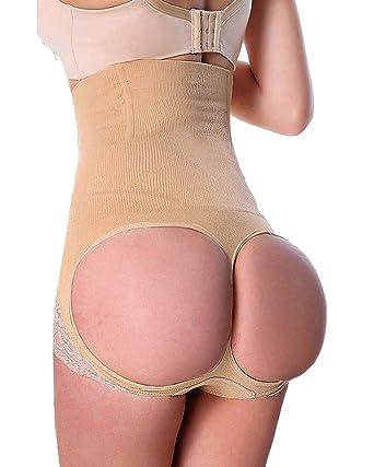 9eddd5da650 FLORATA Women s Butt Lifter Shaper Seamless Tummy Control Hi-Waist Thigh  Slimmer