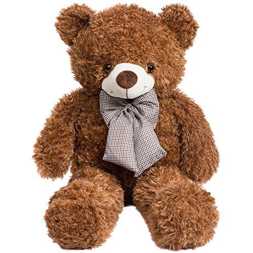 iBonny Teddy Bear Stuffed Animals Plush Soft Cuddly Bear 32 Inch Chocolate