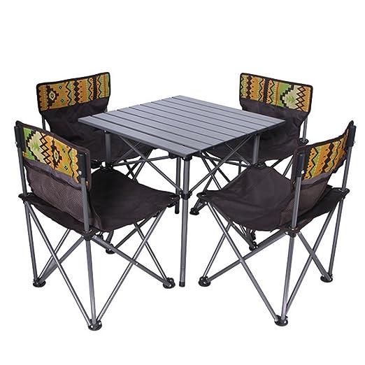 Mesa plegable de camping mesa Juego de sillas y sillas de playa de ...