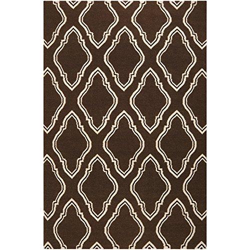 Surya Fallon FAL-1047 Jill Rosenwald Moroccan Inspired Flat Weave Hand Made Area Rug, 2-Feet by 3-Feet, (Fallon Wool Rug)