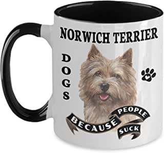Amazon.com: Norwich Terrier Mug Dogs Because People Suck