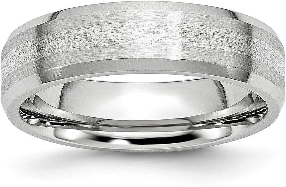 11.5, Size Jay Seiler Cobalt Sterling Silver Inlay Satin//Polished 6mm Beveled Edge Band