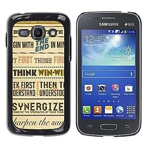 TopCaseStore / la caja del caucho duro de la cubierta de protección de la piel - Synergy Think Win Retro Poster Inspiring - Samsung Galaxy Ace 3 GT-S7270 GT-S7275 GT-S7272