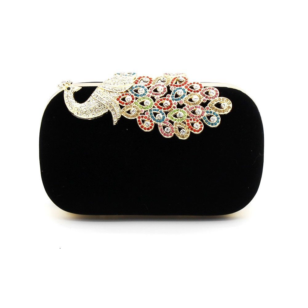 Kingluck Womens Evening Clutch Cocktail Wedding Party Handbag Clutch Purse Decorative Drill (black)