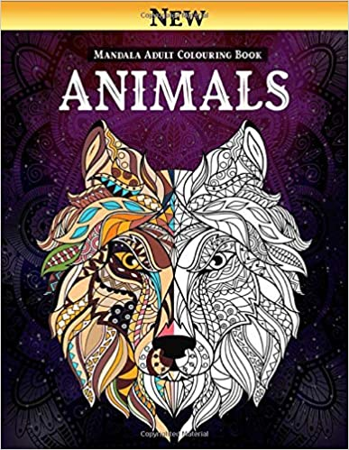 Book's Cover of Animals Mandala - Adult Colouring Book: Mandala Coloring book To Calm The Soul And Relieve Stress; Beautiful Animals Design for Relaxation , Mandalas To Meditate (Adult Coloring Book) (Inglés) Tapa blanda – 17 abril 2020