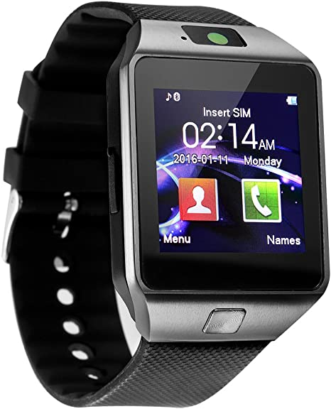 Sazooy Smart Watch DZ09 Bluetooth Smartwatch Touchscreen Sport Wrist Watch Fitness Tracker Pedometer with SIM SD Card Slot Camera Compatible Samsung ...