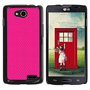 iKiki Tech / Estuche rígido - Dot Fine Pattern Pink Fuchsia Dots - LG OPTIMUS L90 / D415