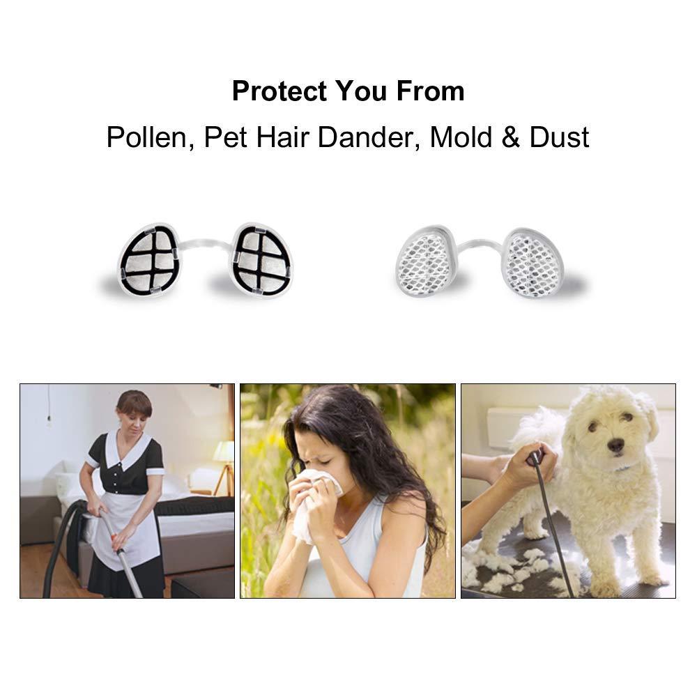WoodyKnows Serie di Filtri Nasali Super Difesa per la protezione antiallergica causata da polline//polvere//forfora//muffa PM2.5//10