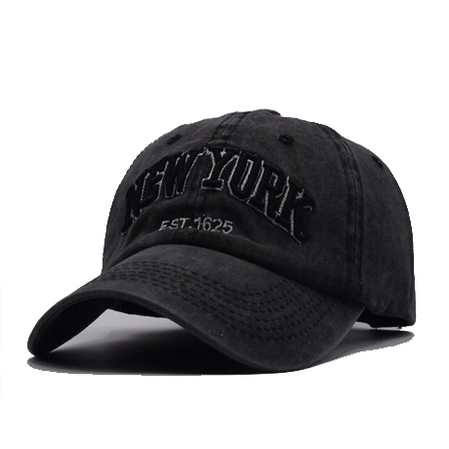 Yijay 100/% Cotton Baseball Cap for Women Men Vintage dad Hats New York Embroidery Letter Outdoor Sports caps
